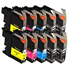 2inkjet Set of 10 Pack LC103 LC-103 Compatible Ink Cartridge for MFC-J245, MFC-J285DW, MFC-J4310DW, MFC-J4410DW, MFC-J450DW, MFC-J4510DW, MFC-J4610DW, MFC-J470DW, MFC-J4710DW, MFC-J475DW, MFC-J650DW, MFC-J6920DW, MFC-J870DW, MFC-J875DW