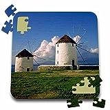 Danita Delimont - Windmills - Greece, Mykonos. White-washed windmills - EU12 RER0003 - Ric Ergenbright - 10x10 Inch Puzzle (pzl_81851_2)