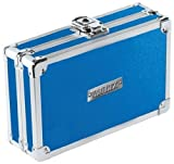 Vaultz Locking Pencil Box, 2.5 x 5.5 x 8.25 Inches, Metallic Blue (VZ01259)