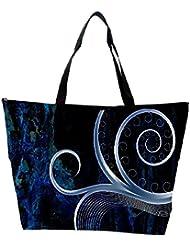 Snoogg Design Vector Grey Designer Waterproof Bag Made Of High Strength Nylon
