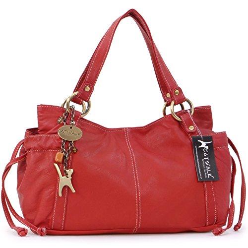 borsa-in-pelle-a-spalla-di-catwalk-collection-mia-rosso