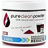 Pure Clean Powder Nitrate-Rich Beet Juice Powder Organic 30-Beet Jar