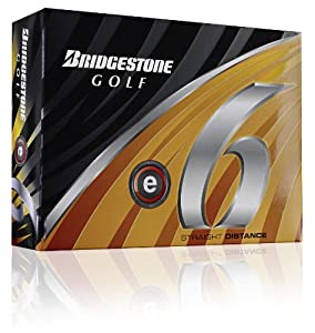 Bridgestone E6 White Golf Balls, 1 Dozen (2011 Model)