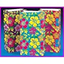 12 pc hibiscus paper bags -luau party supplies