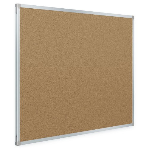 Mead Classic Cork Bulletin Board, 3 x 2 Feet, Aluminum Frame (85361) (24 X 36 Cork Board compare prices)