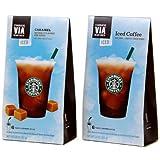 スターバックス VIA インスタント 【アイス】コーヒー オリジナル/キャラメル 選べる2箱セット[ 並行輸入品] (オリジナル 2箱)