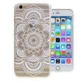 For iPhone 6(5.5''),Tribal Pattern Transparent Ultra Thin Crystal Clear Bumper Scratch Resistant Soft TPU Gel Case Cover for Apple iPhone 6 Plus 5.5''