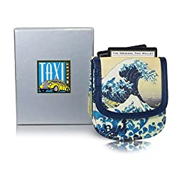 Taxi Wallet HOKUSAI WAVE VEGAN Small Compact Card Coin Wallet