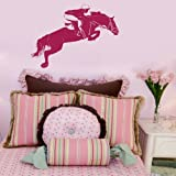 Jumping Rider - Horse Wall Transfer / Vinyl Wall Decal / Horse Wall Sticker HO13