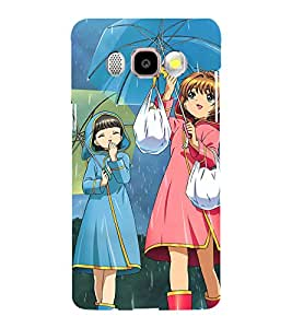 Printvisa Rainy Day With Friends Back Case Cover for Samsung Galaxy J5 (2016)::Samsung J510F