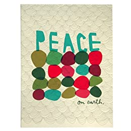 Product Image Egg Press Offset Printed Boxed Holiday Cards - Dot Peace on Earth (Set/8)