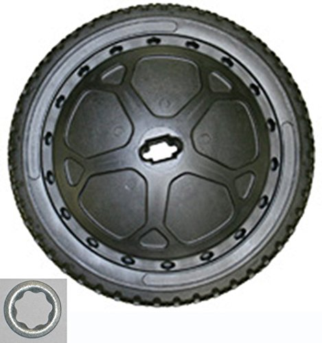 "BLACK FRONT WHEEL 16"" Diameter Replacement Parts Kit for The Original Big Wheel WITH Pedal Washer"