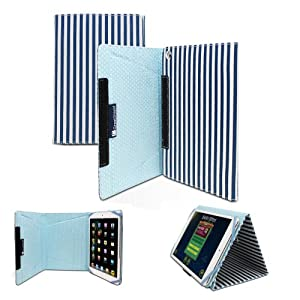 GreatShield Youth Series Kids Case (Blue) Flipbook Carrying Case with Adjustable Stand for Apple iPad Mini 7.9 inch / iPad Mini 2 / 3