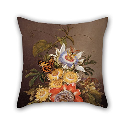 Elegancebeauty Cushion Covers 20 X 20 Inches / 50 By 50 Cm(two Sides) Nice Choice For Dinning Room,lounge,saloon,club,chair,wedding Oil Painting Ferdinand Bauer - Passionflowers (Marvel Magic Mystery Oil compare prices)