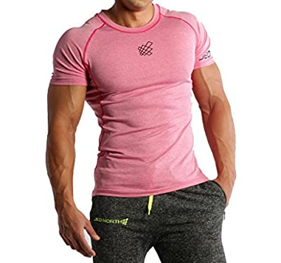 Men's Short Sleeve Tee Compression T Shirt Bodybuilding Workout Slim Fit...