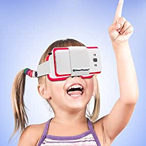 Virtual Reality Headset for SmartPhones (White) by SmartTheater