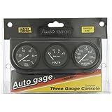 Auto Meter 2397 Autogage Black Console Oil/Volt/Water Gauge