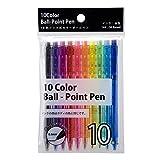 サンノート ノック式 カラーボールペン 1922 10色入 10パックセット