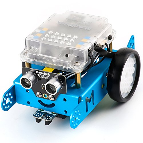 Makeblock mBot 1.1 Kit - STEM Education - Arduino - Scratch 2.0 - Programmable Robot Kit for Kids to Learn Coding, Robotics and Electronics - Blue(Bluetooth Version - Family Prefer) (Kid Programming compare prices)