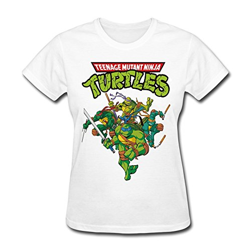 EnHui Womens Teenage Mutant Ninja Turtles Ring Spun Cotton Tshirt