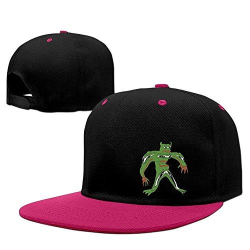 NUBIA Frog Sodier Hip Hop Trucker Hat Adjustable Flat Bill Cap Pink