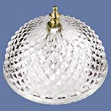 Clip-on Light Shade - Diamond Cut Acrylic Dome Lightbulb Fixture - 7 3/4""