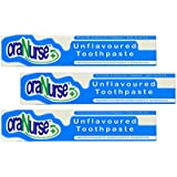 3 Pack Oranurse 50ml Unflavoured Toothpaste