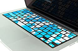 Kuzy Keyboard Camouflage Silicone Skin for MacBook Pro 13 15 17 (with or without Retina Display) iMac and MacBook Air 13 [AQUA]