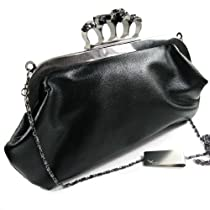 Missy K Skull Ring Clutch Purse, Soft, Detachable Strap + kilofly Money Clip