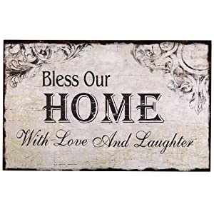Adeco sp0105 decorative wood wall sign plaque for Home decor quotes signs