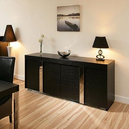 Large Modern Oak Sideboard / Cabinet / Buffet in Black Oak 2.0mtr 912M