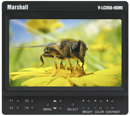 Marshall V-Lcd50-Hdmi 5-Inch Camera-Top Monitor With Hdmi Input For Dslr Cameras