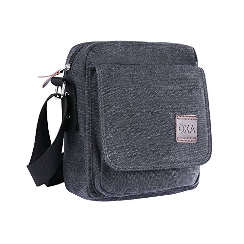 11. OXA Small Canvas Shoulder Bag Messenger Bag ipad Bag Work Bag Business Bag Crossbody Bag Satchel Bag Sling Bag