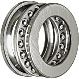 SKF 51106 Single Direction Thrust Bearing, 3 Piece, Grooved Race, 90° Contact Angle, ABEC 1 Precision, Open, Steel Cage, 30mm Bore, 47mm OD, 11mm Width, 7530lbf Static Load Capacity, 3780lbf Dynamic Load Capacity