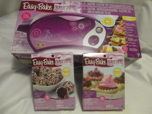 Ultimate Easy Bake Oven With Red Velvet Cupcake And Chocolate Truffles Refill Packs