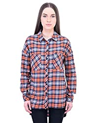 Oxolloxo Women cotton high-low shirt