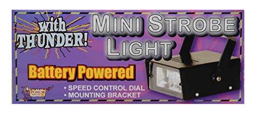 Forum Novelties Battery Powered Led Mini Strobe Light With Thunder Sounds, Black