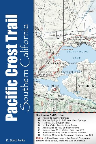 Pacific Crest Trail Pocket Maps -  Southern California