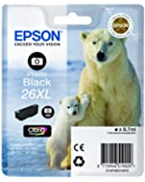 Epson 26XL Cartouche d'encre d'origine 400 pages 8,7 ml Noir Photo