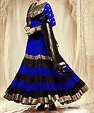 RND Creation Rakhi Gift Blue Georgette Semi-Stitched Salwar Suit