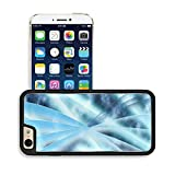 Luxlady Premium Apple iPhone 6 iPhone 6S Aluminium Snap Case Digital abstract shapes glowing in blue tones IMAGE 19863052