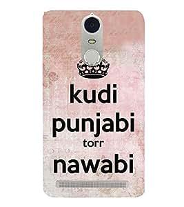 Kudi Punjabi 3D Hard Polycarbonate Designer Back Case Cover for Lenovo K5 Note :: Lenovo Vibe K5 Note Pro