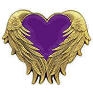 Purple Heart with Wings Pin – Antique…