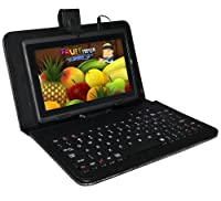 "Universalgadgets Black Keyboard Leather Case For 7"" Tablets Pc With Micro Usb Connection from UNIVERSALGADGETS"