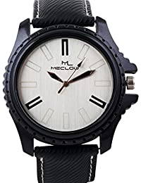 Latest Design Black Leather Belt Watch, Round Black And White Dial Analog Watch For Men's/Boys Classic Fashionable...