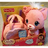 Fisher Price Doodle Bear Babies Pet Kitty and Carrier - Coral