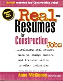 img - for Real Resumes for Construction Jobs book / textbook / text book