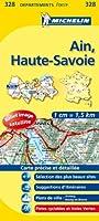 Carte departements Ain, Haute-Savoie