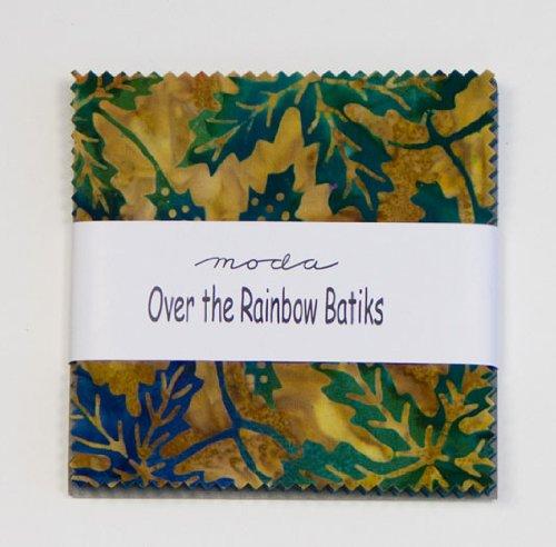 Moda OVER THE RAINBOW BATIKS BLUE Charm Pack 5