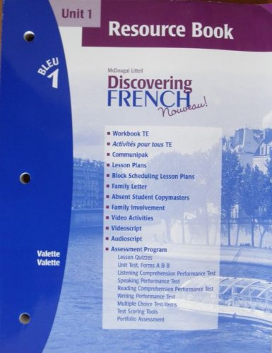 Discovering French Novveau (Unit 1 Resource Book, Bleu 1)